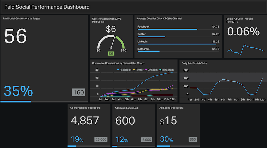 paid-social-performance-dashboard-example