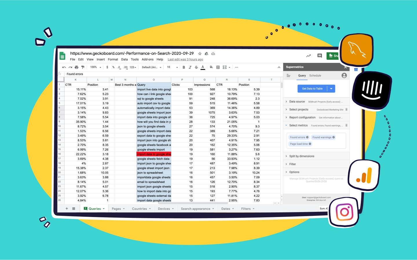 20 ways to import live data into spreadsheets [20 update ...