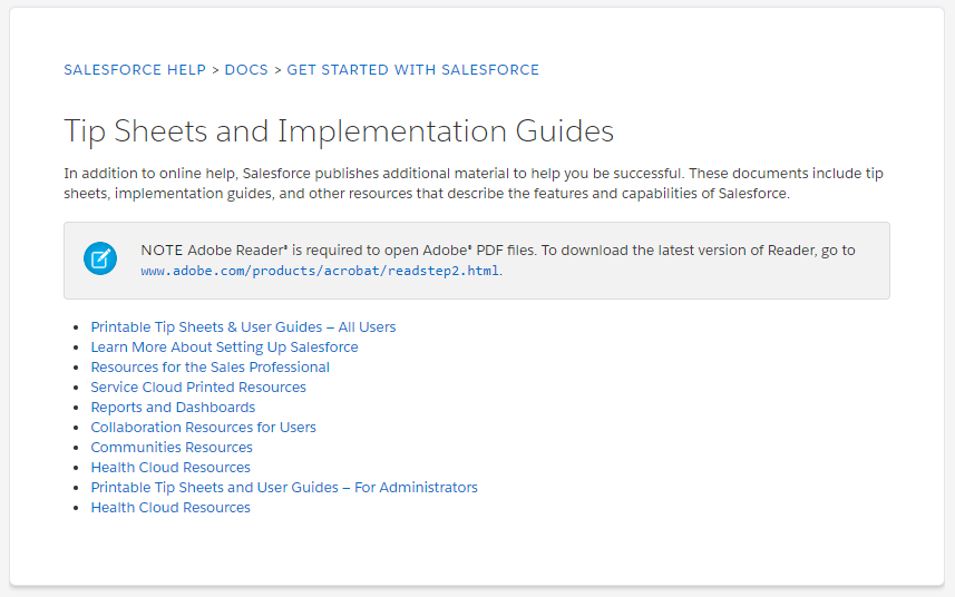Salesforce implementation guides