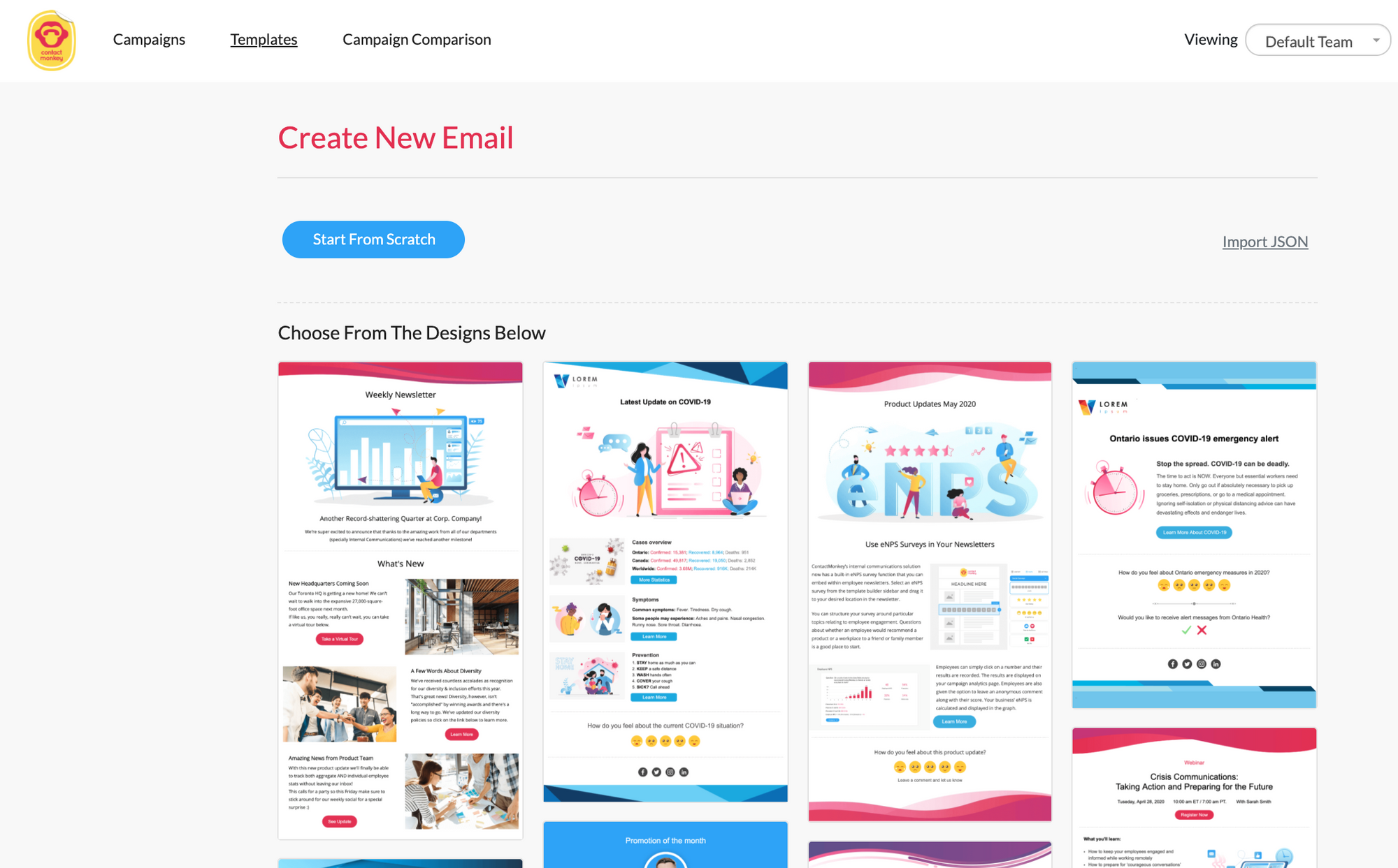 ContactMonkey email templates