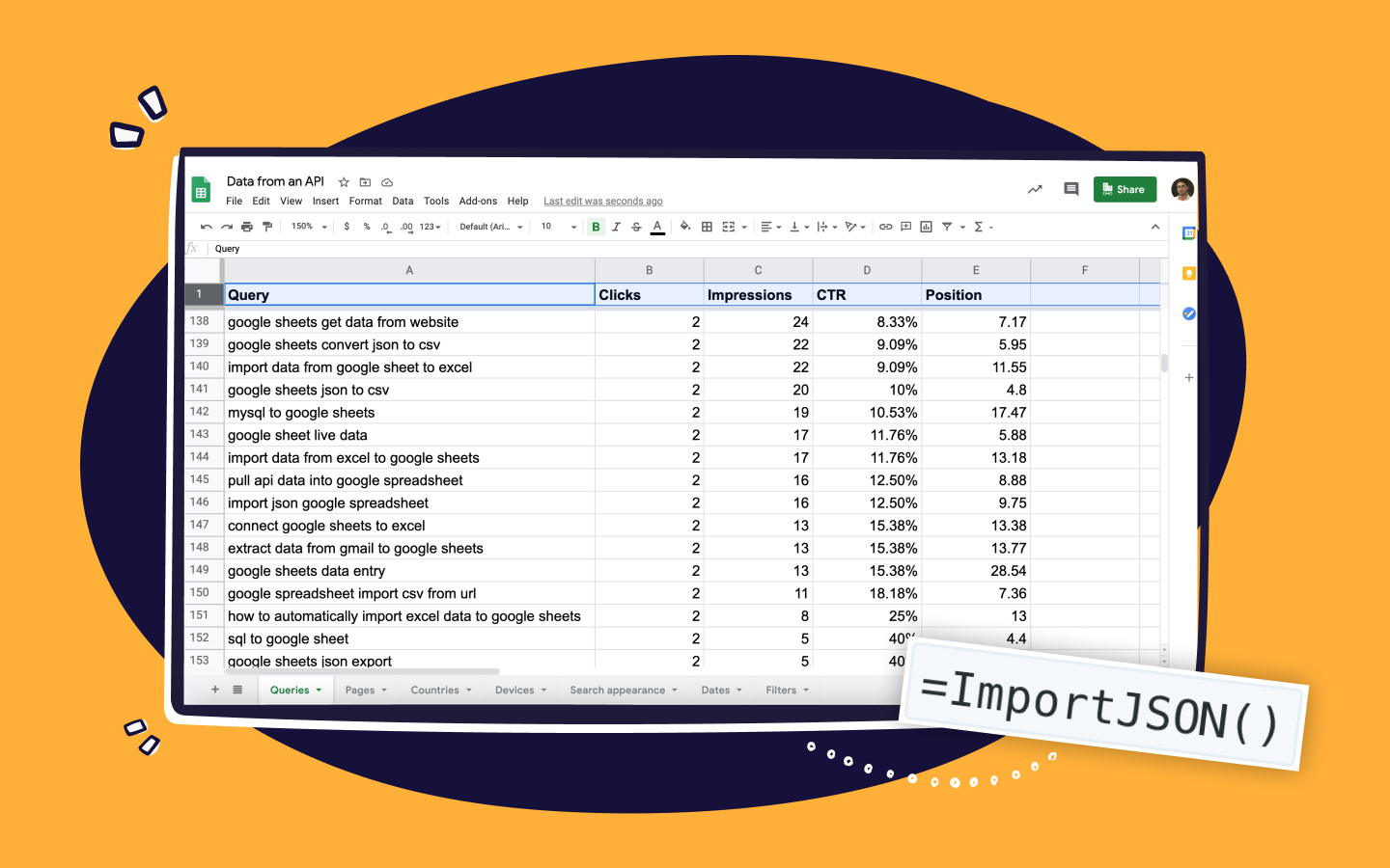 How to import JSON data to a Google Sheet