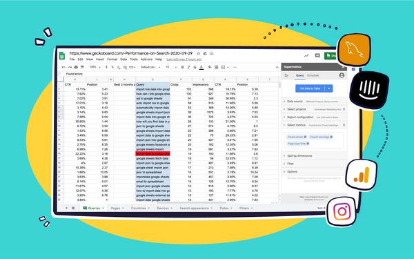 4 ways to automagically import live data into spreadsheets