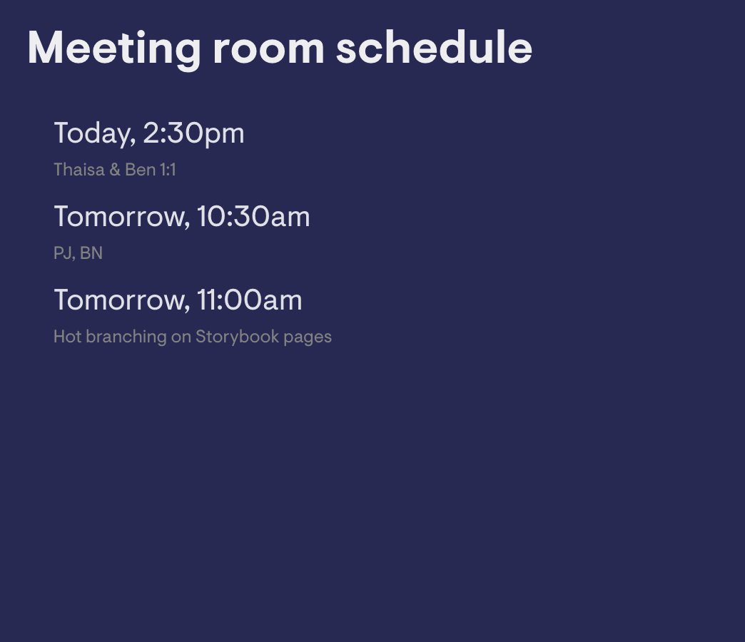 Meeting Room Schedule Google Calendar image